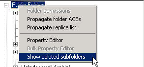 Recover deleted public folders Exchange 2010 with ExFolders