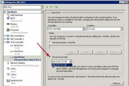 How to: attach a usb disk to a Hyper-V virtual machine