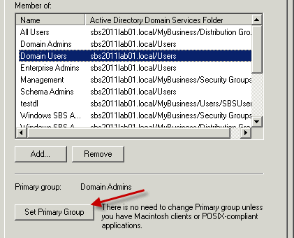 Set Primary Group Active Directory 6